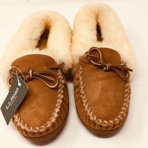 LL Bean shearling slippers NEW Sheep 7